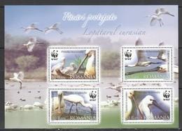 RM173 2006 ROMANIA WWF FAUNA BIRDS LOPATARUL EURASIAN BL391 MNH - Altri