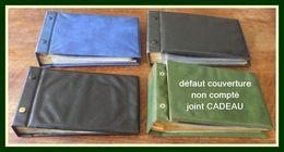 3 Classeurs Pour Enveloppes Ou Cartes (format + Grand Que FDC) Avec Intercallaires (+ 1 Cadeau) - Reliures Et Feuilles
