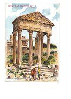 Chromo Temple De Jupiter à Dougga Tunisie Tunisia  Chocolat D'Aiguebelle 105 X 70 Mm TB 2 Scans - Aiguebelle