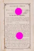 MORTIER 1878 Décès De Melle VERVIER à L'âge De 26 Ans / RARE - Décès