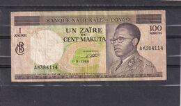 Congo  Zaïre  100 Cent Makuta  1968  VF - Democratische Republiek Congo & Zaire