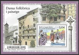 Andorra Andorre 2014 Ball De Santa Anna Escaldes-Engordany Michel Bl. 11 (778) MNH Mint Neuf Postfrisch ** - French Andorra