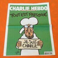 Charlie Hebdo  Tout Est Pardonné   N° 1178  (14 Janvier 2015) - 1950 - Nu