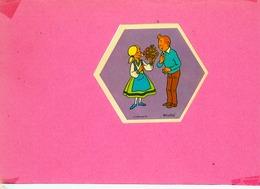AUTOCOLLANT STICKER.  LA VACHE  QUI  RIT.  TINTIN ET  SES  AMIS.  1972 - Stickers