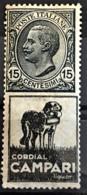ITALY / ITALIA 1924/25 - MLH - Sc# 96c - Advertising Stamp / Francobollo Pubblicitario 15c - Cordial Campari - Nuevos