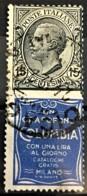 ITALY / ITALIA 1924/25 - Canceled - Sc# 96d - Advertising Stamp / Francobollo Pubblicitario 15c - Columbia - Nuevos