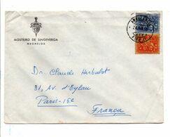 PORTUGAL AFFRANCHISSEMENT COMPOSE SUR LETTRE POUR LA FRANCE 1959 - Lettere