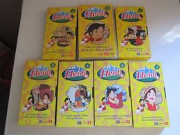 RARE HEIDI CASSETTE VIDEO VHS 6 Cartons + 1 Plastique HEIDI SERIE DE 7 CASSETTES Rba Fabbri - Dessins Animés