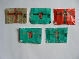 Déstockage FRANCE,  5 Papiers De Sucre, Paquets Cadeaux, TB. - Sugars