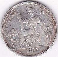 INDOCHINE FRANCAISE  PIASTRE DE COMMERCE ARGENT 27 GRS  1906  A - Francia
