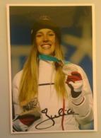 SKI - SNOWBOARD - JULIA PEREIRA DE SOUSA....Signature...Autographe Véritable..... - Autographes