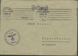 1941 Breslau, Feldpostbrief (o.Inh.) M. Dienststempel N. Kippenhausen Am Bodensee - Oficial