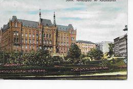 Stettin, Rathausplatz Mit Manzelbrunnen - Pommern
