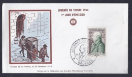 Enveloppe Federale Journee Du Timbre 1954 Bourges - FDC