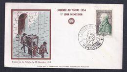 Enveloppe Federale Journee Du Timbre 1954 Montlucon - FDC