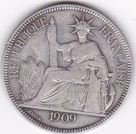 INDOCHINE FRANCAISE  PIASTRE DE COMMERCE ARGENT 27 GRS  1909   A - Francia