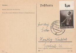Allemagne Yvert 635 Discours De Hitler Sur Carte Hamburg 1/5/1939 - Deutschland