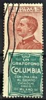 ITALY / ITALIA 1924/25 - Canceled - Sc# 102b - Advertising Stamp / Francobollo Pubblicitario 30c - Columbia - Nuevos