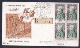 Enveloppe Pac Journee Du Timbre 1954 Vieux Charmont - FDC