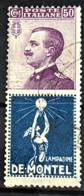 ITALY / ITALIA 1924/25 - Canceled - Sc# 105d - Advertising Stamp / Francobollo Pubblicitario 50c - De Montel - Nuevos