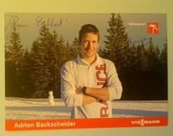 SKI - Adrien BACKSCHEIDER....Signature...Autographe Véritable..... - Handtekening