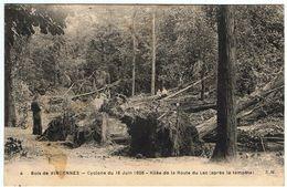 Bois De Vincennes / Cyclone Du 16 Juin 1908 / Allée De La Route Du Lac, Après La Tempête  / Etat ! - Parks, Gardens
