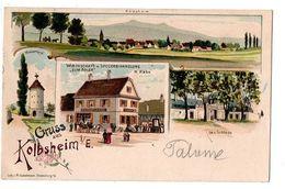 GRUSS AUS KOLBSHEIM MULTI VUES CARTE COULEUR TRES ANIMEE - Alsace
