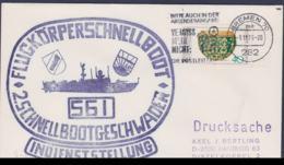 German Navy Cover: Flugkörperschnellboot S61 Indienststellung Posted Bremen 1975 (G114-6) - Militaria