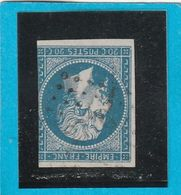 N° 14 A    - Oblitération PC 2770  SABRES  (39)  LANDES - LOT JC + Variété- IND 9 - Cote 55€ - 1853-1860 Napoléon III