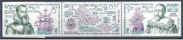 1986 WALLIS FUTUNA 346A** Navigateurs, Carte îlies Horn, Bateaux - Nuovi