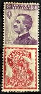 ITALY / ITALIA 1924/25 - MLH - Sc# 105h - Advertising Stamp / Francobollo Pubblicitario 50c - Singer - Nuevos