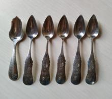 6 Cuillers En Argent - Poinçon Des Pays-Bas - Cucchiai