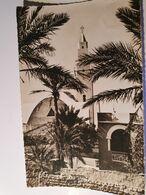 ALGERIE COLOMB BECHAR 2 CARTES EGLISE VUE DE LA PALMERAIE + COUCHER DE SOLEIL - Bechar (Colomb Béchar)