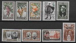1950 1951 Algérie N° 279 à 287  Nf** MNH. Années 1950 Et 1951 Complètes - Algeria (1924-1962)
