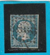 N° 14 A    - Oblitération PC 909  COLMARS -LES-ALPES (05)   - LOT JC + Variété- IND 12- Cote 80€ - 1853-1860 Napoléon III
