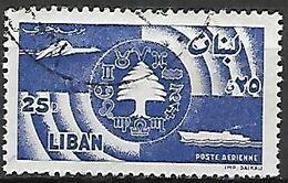 LIBAN    -    Poste Aérienne .   Oblitéré.   Avion  /  Bateau. - Libanon