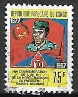 CONGO.   1987.    Président   Marien  NGOUAB. Oblitéré. - Congo - Brazzaville