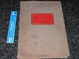 REGISTRE / MAIN COURANTE-ACHATS D'OBJETS-DE 1913 A 1927-BROUILLON REALISE EN VUE D'UN INVENTAIRE-ORIGINE A DETERMINER - Manuscritos