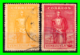 VENEZUELA 2 SELLOS AÑO 1930 SIMON BOLIVAR - Venezuela
