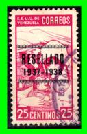 VENEZUELA SELLO RESEÑADO AÑO 1937 - Venezuela