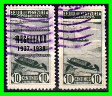 VENEZUELA 2 SELLOS UNO RESEÑADO AÑO 1937 - Venezuela