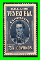 VENEZUELA SELLO AÑO 1938 GENERAL BOLIVAR - Venezuela