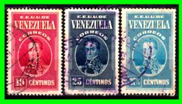 VENEZUELA 3 SELLOS AÑO 1938 GENERAL BOLIVAR - Venezuela