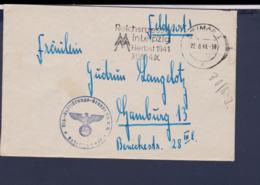 German Feldpost WW2: 1. (F.) Staffel In Weimar And Cachet From Erg.Aufklärungsgruppe Ob.d.H - Militaria