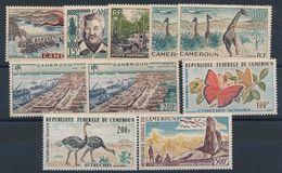P-65: CAMEROUN: Lot Avec PA* N°43-45-46-47(2)-48(2)-54-55-56 - Kameroen (1960-...)
