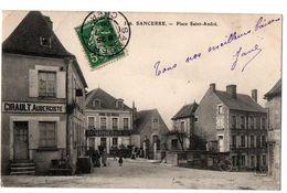 SANCERRE PLACE SAINT ANDRE AUBERGISTE ET MARCHAND DE VINS ANIMEE - Sancerre
