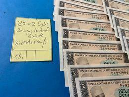 20 X 2 SYLIS  Banque Centrale De Guinée - Billtes NEUFS - Guinea