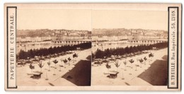 Vue Stéréoscopique-Photo B. Treille, Lyon,  Vue De Lyon, Blick In Den Ort - Stereoscoop