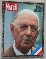 PARIS-MATCH N°1124A (1970) - Mort Du Général De Gaulle - Gente