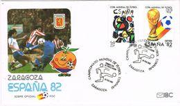 37352. Carta ZARAGOZA 1982. FUTBOL, Football España 82. Naranjito - 1931-Heute: 2. Rep. - ... Juan Carlos I